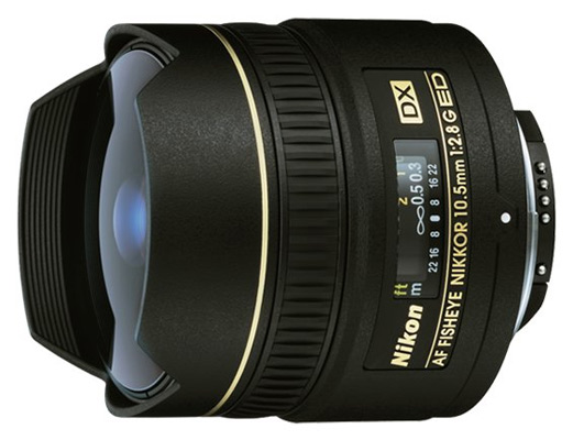 Nikkor 10,5mm f/2.8G ED Fisheye DX